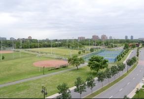 Vue sur le fleuve et le parc