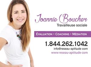 Joannie Boucher, travailleuse sociale