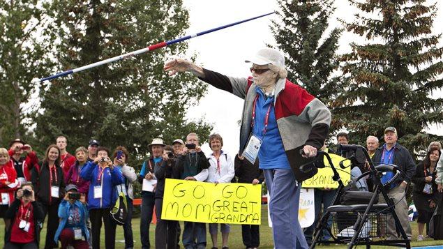 Jeux du Canada-Florence Storch-médaille argent lancer du javelot