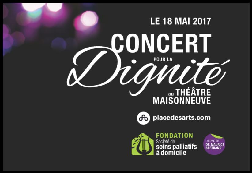 Concert pour la Dignité 2017, Théâtre Maisonneuve