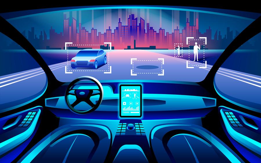 Technologie, conducteurs âgés, auto, conduite, personnes angées