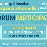Forum participatif sur les bienfaits de l'intergénérationnel