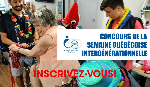 Concours, Semaine québécoise intergénérationnelle, Intergénérations Québec