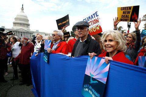 Personnes aînées, lutte, changements climatiques