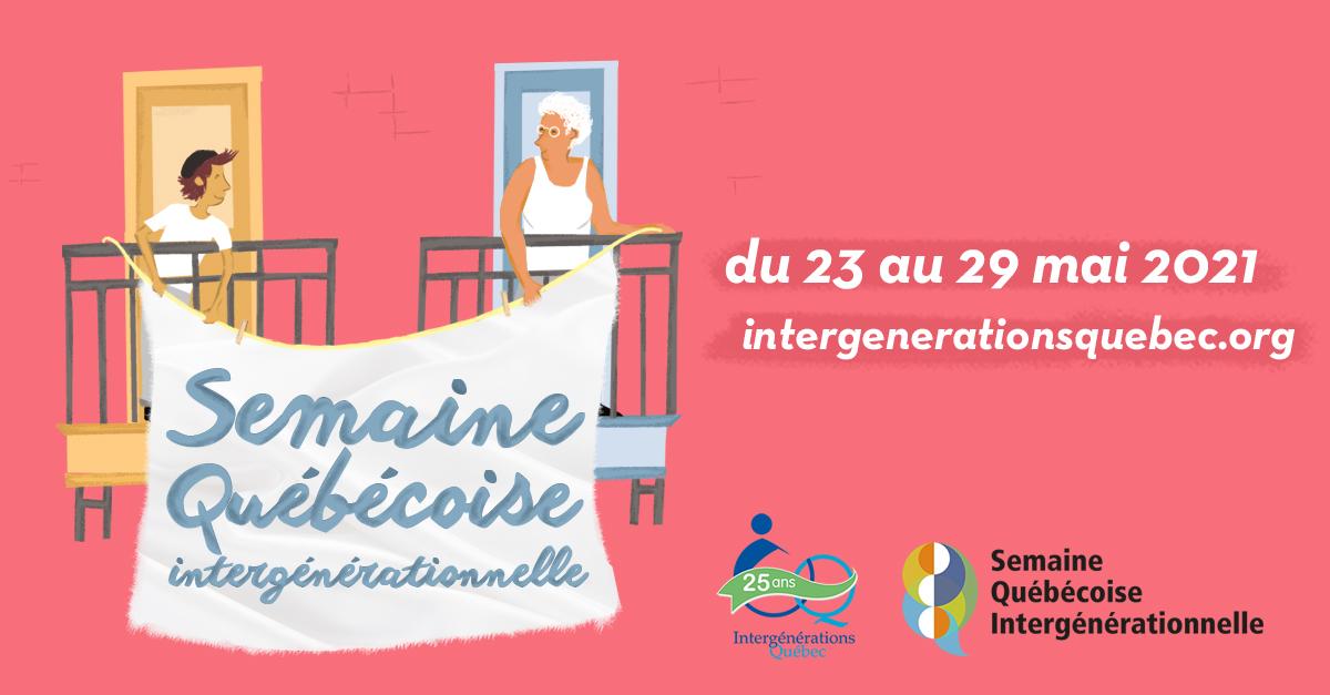 Semaine québécoise intergénérationnelle, 2021, chaleur humaine, aînés