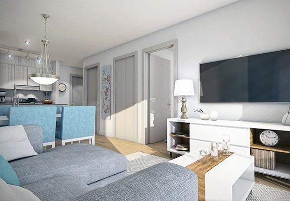 intérieur appartement 3 et demi