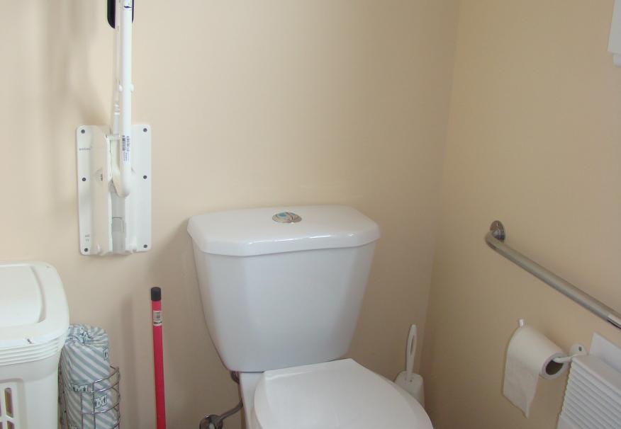 salle de bain avec barre d'appuie